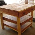 KIC1D2S-Kitchen Island-Cedar-1 Drawer, 2 Shelves