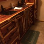 Bathroom Counter/Cabinets-Cedar-Custom